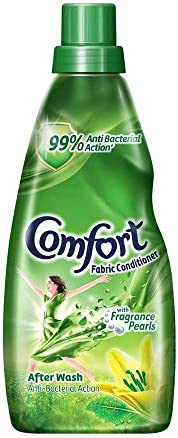 Comfort After Wash Fabric Conditioner, 99.9% anti-bacterial action along with all day freshness and lasting fr