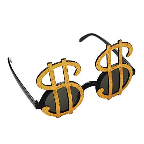Wudi Dollar Lustige Männer Frauen Sonnenbrille Kinder Erwachsene Feiertags-Party-Zubehör Brille Brille