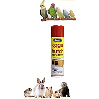 Johnson's Cage 'n' Hutch Insect Spray Kills Mites, Lice, Fleas, Larvae & Insects 41xKVxwXAdL
