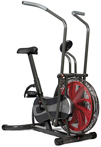 SportPlus 2 in1 Fitness Bike & Cross Trainer; Fan-based and belt brake resistance, wind turbine, total body workout; Max. User Weight 100 kg, Safety tested