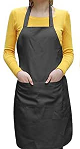 AIRWILL 100% Pack of Cotton Solid Color Aprons (65cm, Solid)