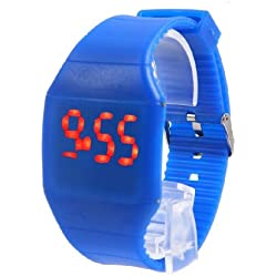 CHIC*MALL Ultra-Thin Unisex Boy Girl Touch Screen LED Digital Silicone Sport Wrist Watch Dark Blue