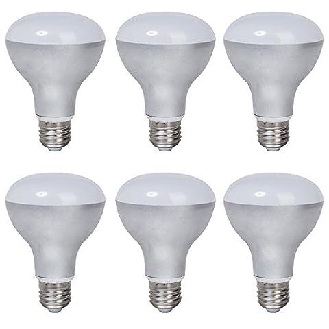 6-Pack Boîtier en aluminium non dimmable LED Ampoules R80 E27 Base 9w (60w équivalent) Angle de faisceau de 180 degrés (Soft White 3000K)