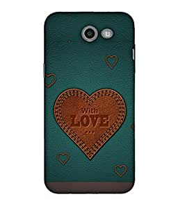 FUSON Designer Back Case Cover for Samsung Galaxy J5 2017 (Dil Se Tumhare Sath Always Leather Jacket Hearts)