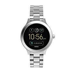 Fossil Damen Smartwatch Q Venture 3. Generation - Edelstahl - Silber – Elegante & Moderne Frauen Smartwatch – Für Android & Ios