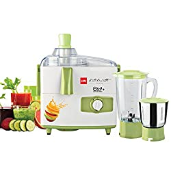 Cello JMG_Rio_Plus 500-Watt Juicer Mixer Grinder with 2 Jars (Green/White)