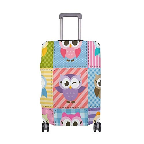 Summer Tropical Flamingo Birds Pineapples Polka Dots Suitcase Luggage Cover Protector for Travel Kids Men Women 22-24Inch XL (Lila Polka Dots Koffer)