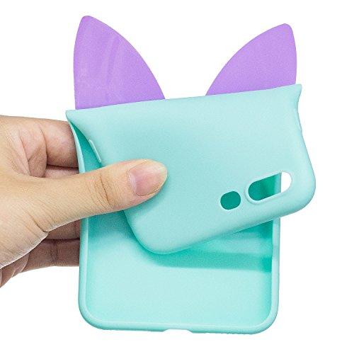 EUWLY Silicone Custodia per iPhone 7 Plus/iPhone 8 Plus (5.5), 3D Creativo Cute Cartoon Animale Solid Modello TPU Cover Case per iPhone 7 Plus/iPhone 8 Plus (5.5) Ultra Sottile Morbido Silicone TPU  Farfalla