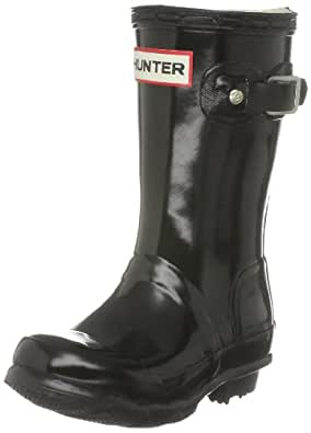 Hunter Unisex-Adult Original Kids Gloss Black Wellington Boot W23991 7 UK