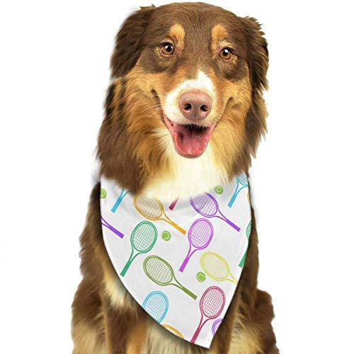 (Wfispiy Tennisschläger-Muster Ostern Hund Bandana Reversible Dreieck Lätzchen für Hunde Haustier Tiere)