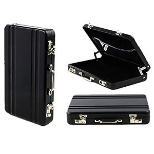 SODIAL(R) Card Case mini Koffer Formel Card Case(schwarz)