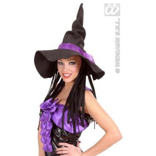Witch Hut Hexenhut mit Haar lila Halloween
