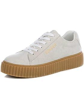 ALUK- Zapatos planos del estudiante de los zapatos del cordón ocasional coreano de la primavera y del otoño (...