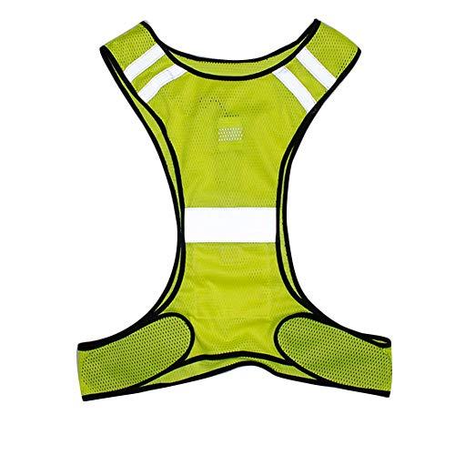 SparY Reflektierend Vest-High Sichtbarkeit Waistcoat-Safety Weste mit LED Reflektierende Streifen für Night Traffic Aktivitäten/Laufen/Radsport/Wandern/Night Arbeiten Traffic Safety Vest