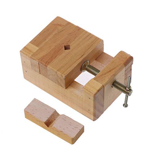 JUNESUN Holz-Schraubstock Mini Clamp-on Schraubstock Flachzangen Holzschnitzerei Gravur