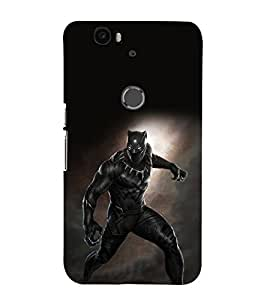 printtech Black Panther Super Back Case Cover for Huawei Google Nexus 6P
