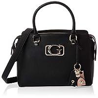 GUESS Women's Satchel Handbag, Black - VG758306