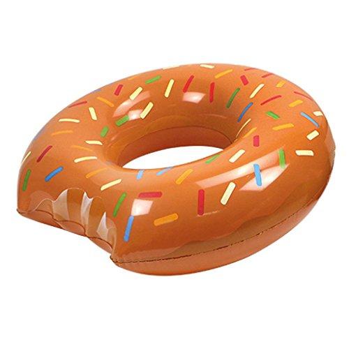 Speelgoed Mega Donut Schwimmring, braun, 119cm