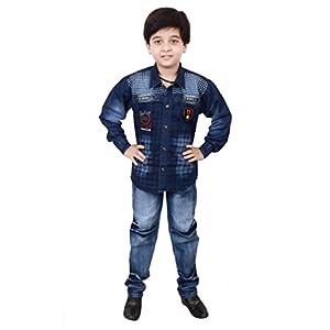 Arshia Fashions Boy's Shirt and Denim Set