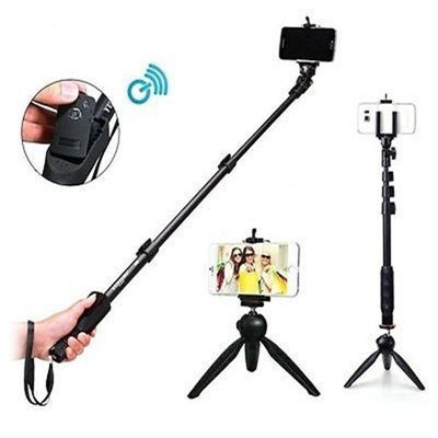 Bluetooth Selfie stick forSamsung Galaxy S6 EDGE+ With Shutter Remote / Expandable up to 123 cm / also works with action camera and Digital camera / Tripod free from HashTag Store (Azacus Official) / comes with six months' replacement warranty