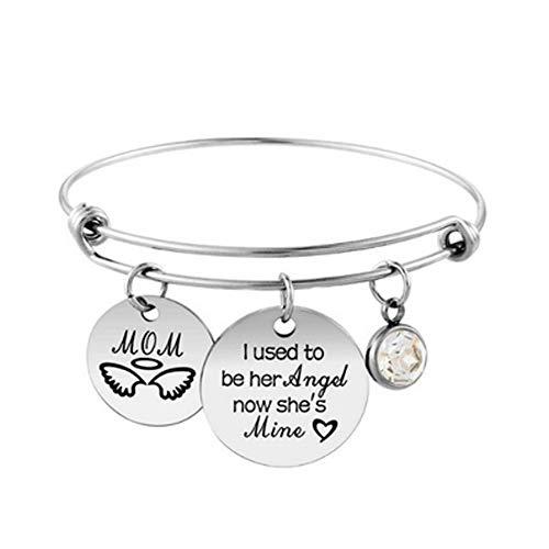 TrifyCore Edelstahl Frauen Armband Denken Sie daran, Ich Liebe Dich Mamma-Geschenk für Mamma-Mutter Stammbaum Armband Charmearmbänder für Frauen Art No.4, Schmuck-Geschenk-Set