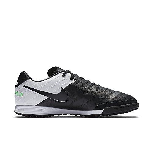 Nike Herren Tiempox Mystic V Tf Fußballschuhe Schwarz (Black/Black-White-Electro Green)