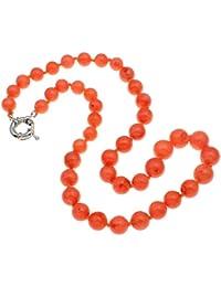 TreasureBay Beautiful Natural color rosa Coral collar de cuentas de 21pulgadas/52cm–presentado en una bonita caja de regalo