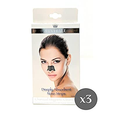 3 Boxes Revitale Charcoal Magnetic Cleansing Deeply Absorbent Nose Strips from Revitale