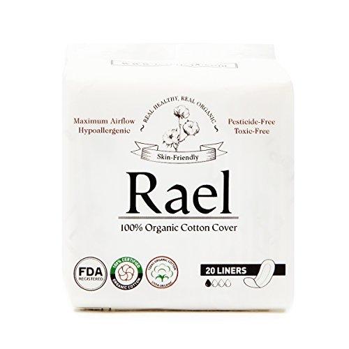 Rael 100% Organische Baumwolle Regular Slipeinlagen, geruchlose Slipeinlagen-Natürliche Tägliche Slipeinlagen