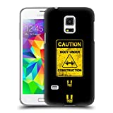 Head Case Designs Caution Fitness Motivation Ruckseite Hülle für Samsung Galaxy S5 Mini