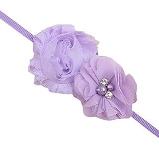 Baby Kleinkinder Haarband Chiffon Doppel Blume weichem Stoff einfach mit Kopfbedeckungen Fashion
