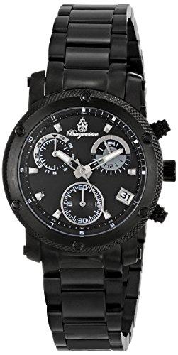 Burgmeister Tampico, Reloj de cuarzo para mujer, con correa de acero inoxidable, Negro