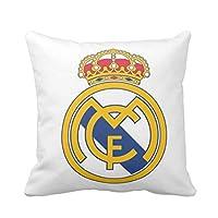 جي 4 ايه ريال مدريد وسادة بتصميم مطبوع - ابيض