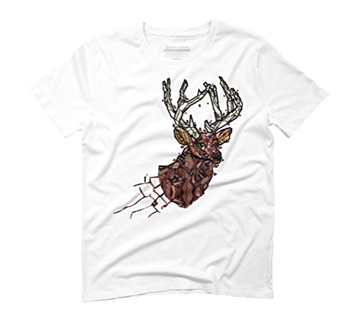 ABSTRACT STAG Men's Graphic T-Shirt - Design By Humans White