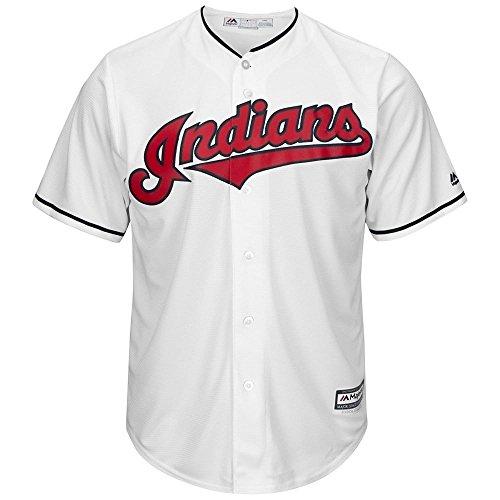 Majestic Cleveland Indians Cool Base MLB Trikot Home (M) (Indian Baseball-shirt)