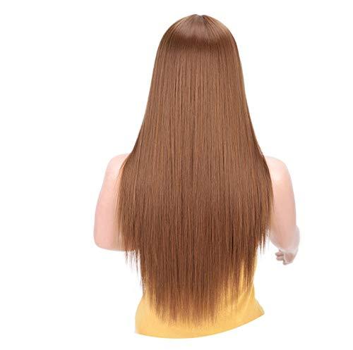 Ombre verdes recta pelucas sintéticas largas mujeres