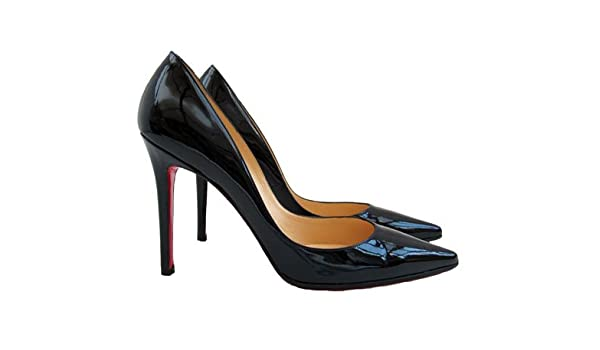 36af68019c9 Christian Louboutin - Navy Blue Patent Leather Court Shoe: Amazon.co ...