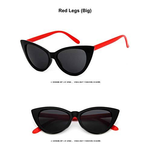 Taiyangcheng Sonnenbrillen Damen Accessoires Mode Sonnenbrillen Schwarze Sonnenbrille,rote Beine