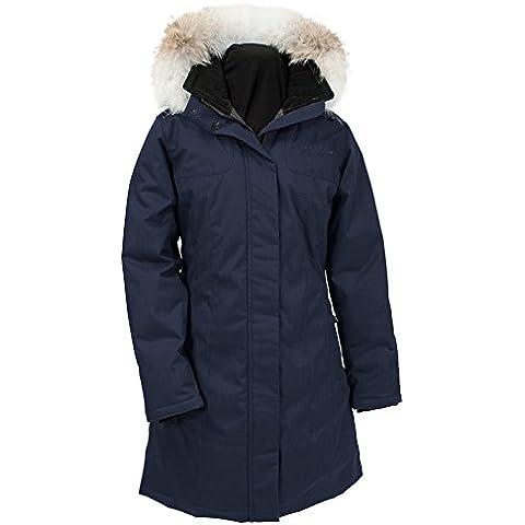 Naturaleza de cuarzo mujeres Kimberly abajo espiga chaqueta con piel de Coyote–extra grande/azul marino