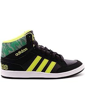 Scarpe Kids Sneakers Adidas Hoops Mid in Pelle nera CG5735