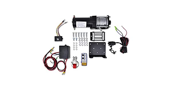 Binzhoueushopping Electric Winch 12 V 1360 kg Roller Plate Remote Control Car Lifter
