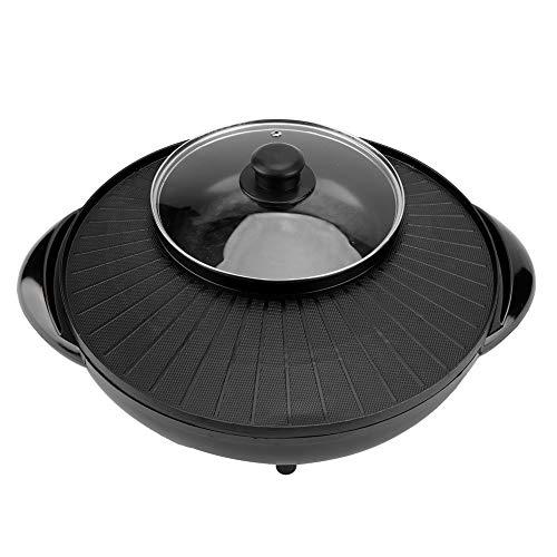 Elektrische Hot Pot Grillpfanne, Praktische Durable 1500 Watt 2 In 1 Multifunktionale Home Restaurant Küche Elektrische Pan Hot Pot Grill Braten Koch Grill