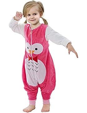ZEEUPAI - Flanell ärmellos Schlafsack mit Beinen für Baby / Kleinkinder / Junge / Mädchen