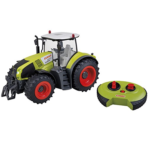 Unbekannt RC Ferngesteuerter Traktor 34 cm Claas Axion 870 im Maßstab 1:16 • RC Ferngesteuert Fahrzeug Spieltrecker Trecker Schlepper
