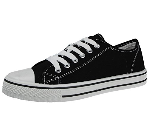 Ladies Girls Kids Canvas Low Top All Star Lace Up Trainers Size 13-8