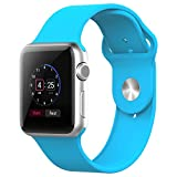 Apple Watch Armband, JETech 38mm Weichen Silikon Sport Replacement Wrist Band Uhrenarmband für Apple Watch 38mm Alle Modelle (Blau) - 2221