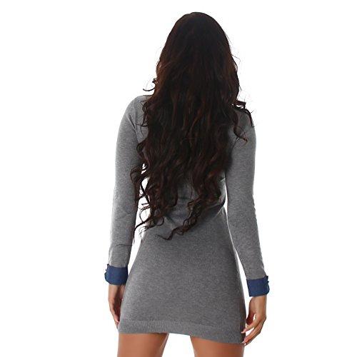Enzoria -  Vestito  - Camicia  - Maniche lunghe  - Donna Grau
