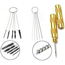 3Set aerógrafo Spray de limpieza herramienta de reparación Kit Aguja juego de brochas Royalmax® de acero inoxidable