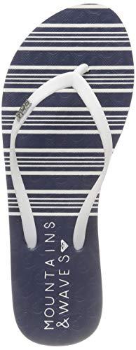Roxy Viva Stamp II, Zapatos Playa Piscina Mujer, Azul
