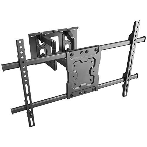 RICOO TV Wandhalterung S7264 Universal für 37-65 Zoll (ca. 94-165cm) Schwenkbar Neigbar   Wand Halter Aufhängung Fernseh Halterung auch für Curved LCD & LED Fernseher   VESA 300x200 600x400 Schwarz